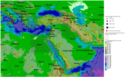 earthquakes and volcanos, Europe and Middle East